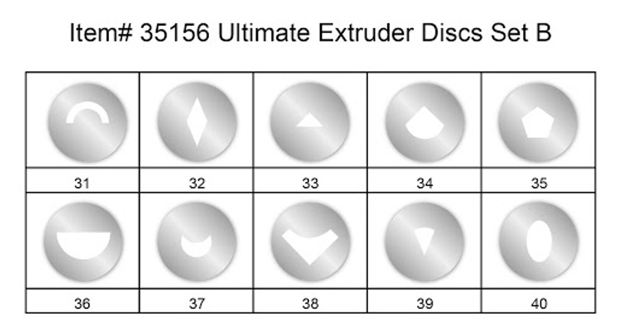 Makin's Ultimate Clay Extruder Discs - Set B designs