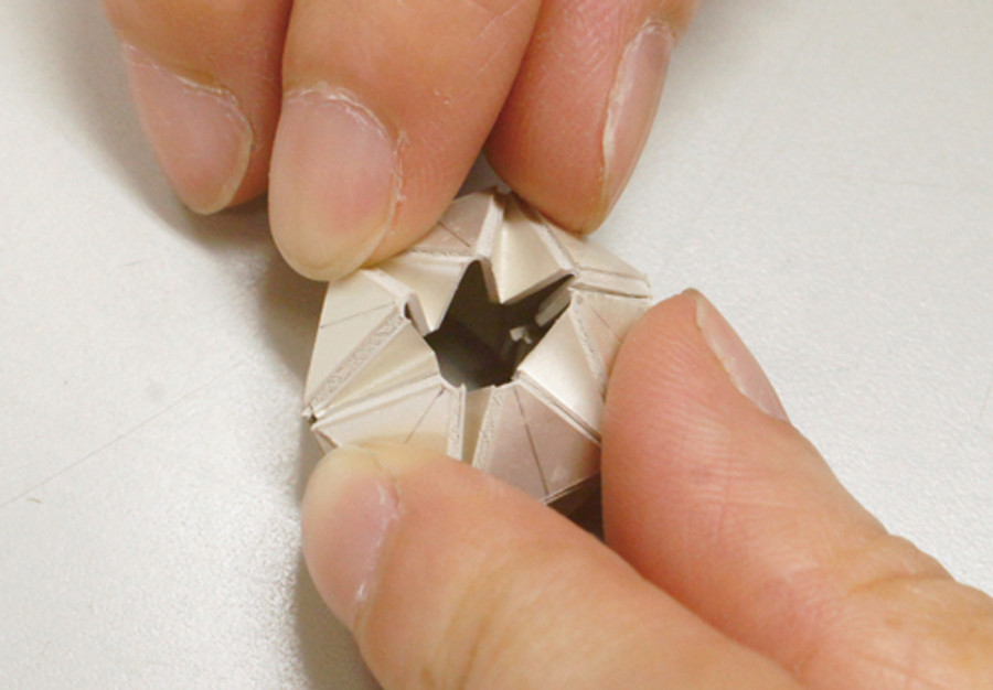 Real silver origami work made with Art Clay Paper Type Plus+ - 85 x 85mm - 35gm A-0350