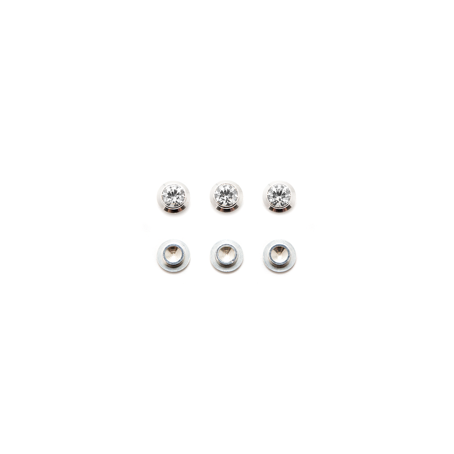 CZ Gemotion Rivet - White 3mm - 3pcs