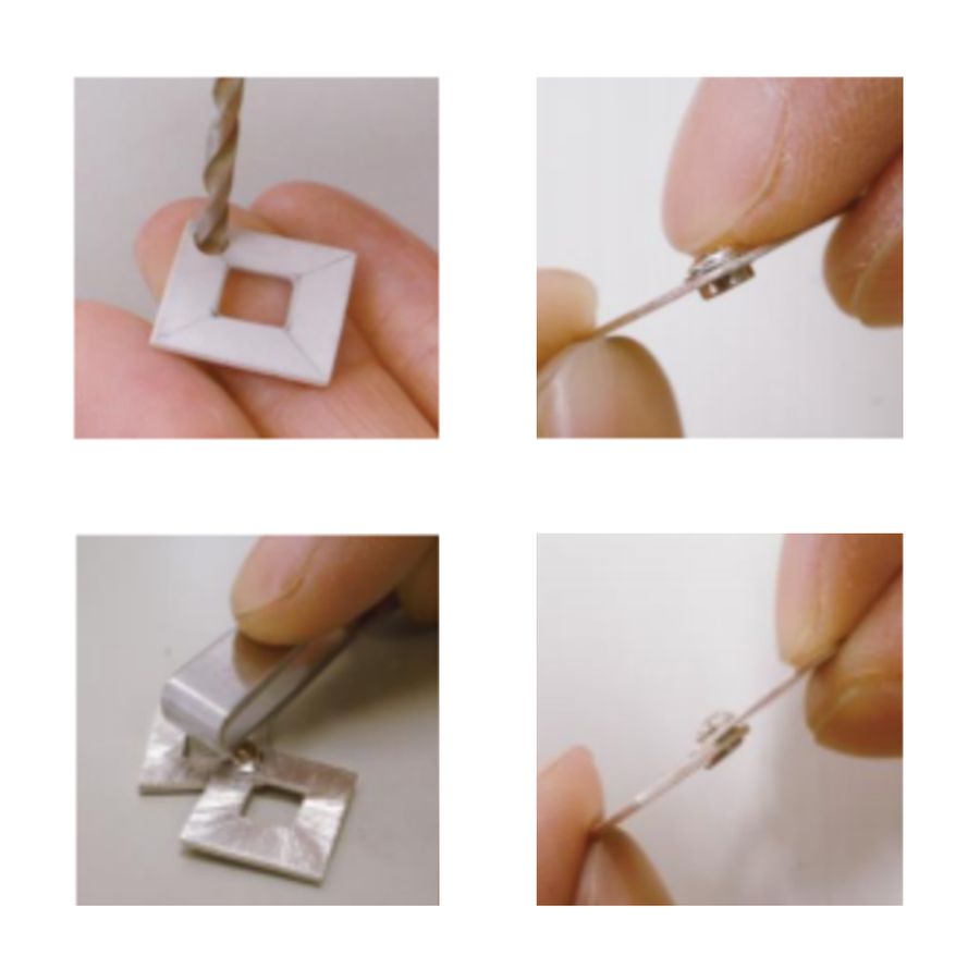 CZ Gemotion Rivet - White 4mm - 3pcs
