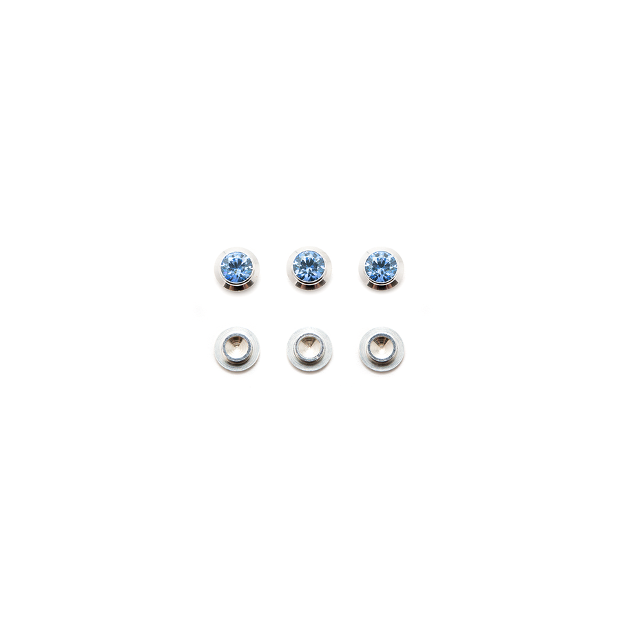 CZ Gemotion Rivet - Blue 3mm - 3pcs