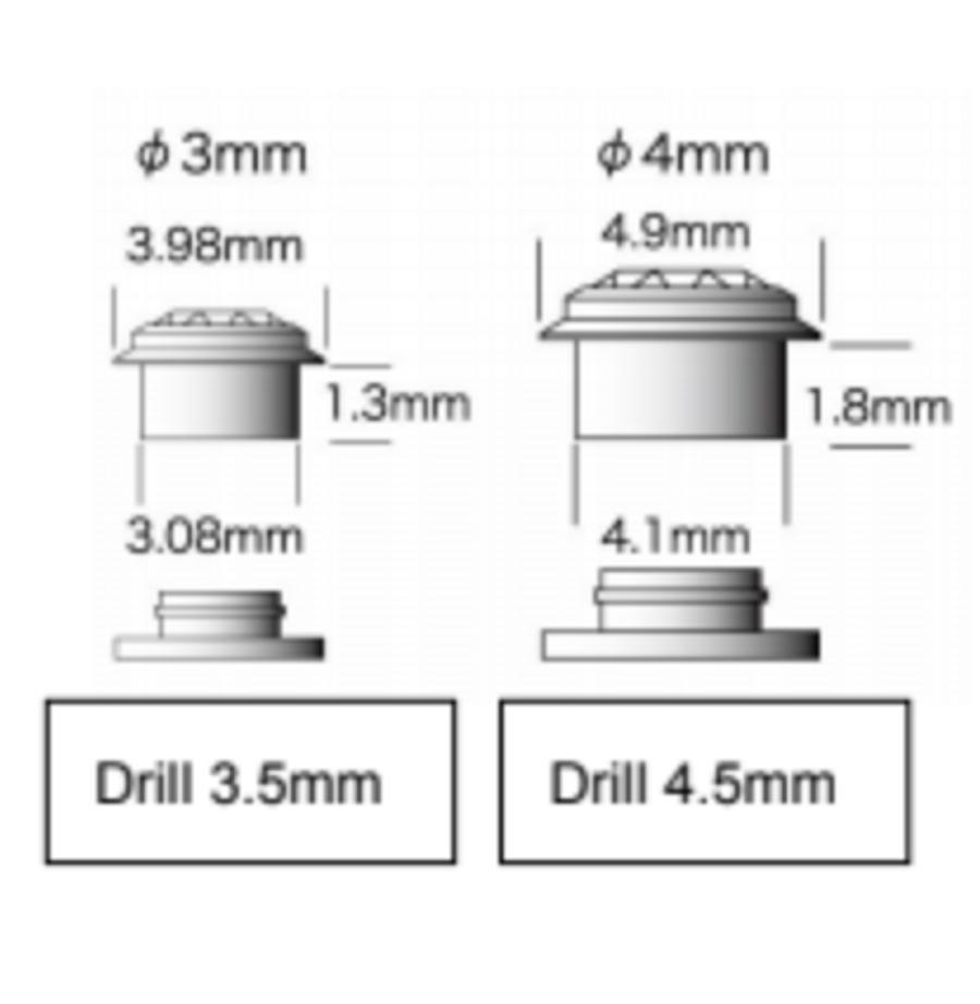 CZ Gemotion Rivet - Amber 4mm - 3pcs