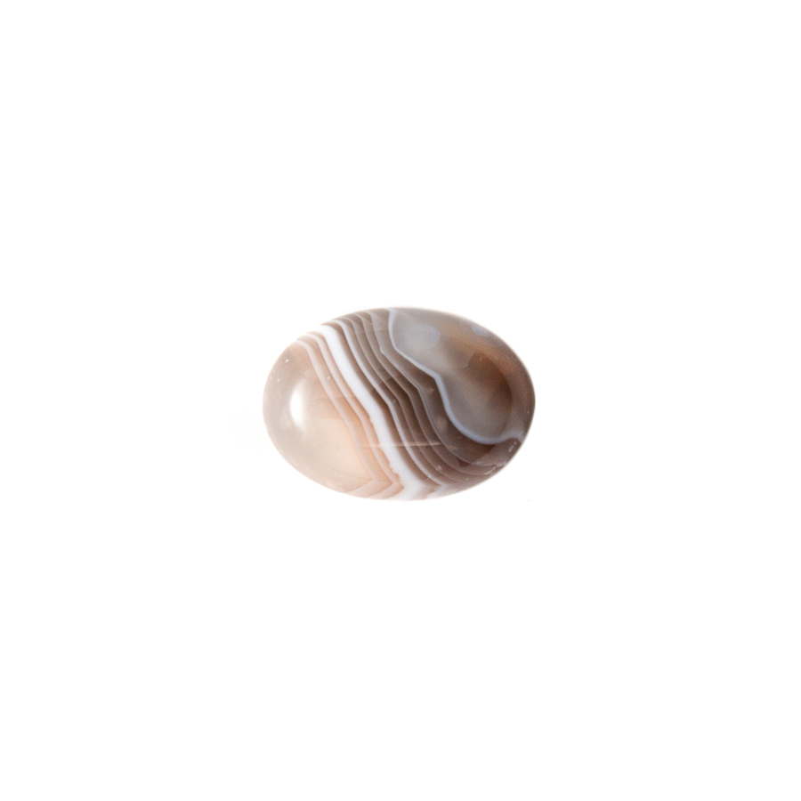 Oval cabochon - Botswana Agate - 10x14mm