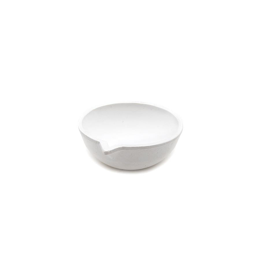 Firing Dish - Crucible Alumina Ceramic, 7.62cm
