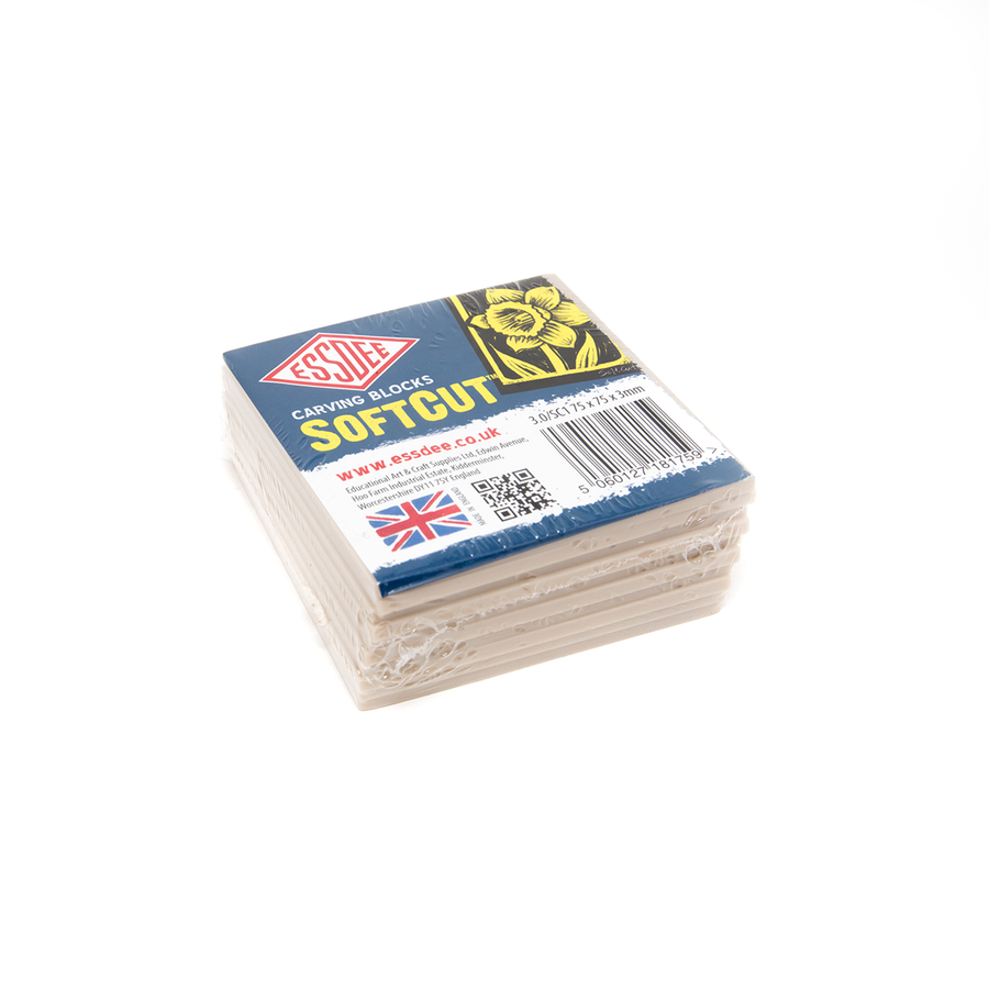 Softcut Carving Blocks - 75x75mm - Pack of 10