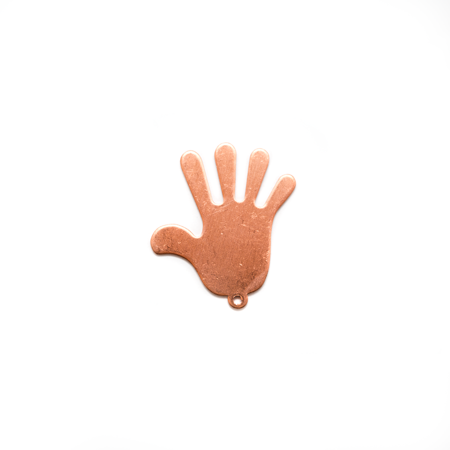Copper Blank - Hand - 34 x 31mm
