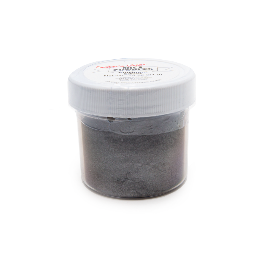 Caster's Choice Mica Powder - Platinum Silver - 21gm