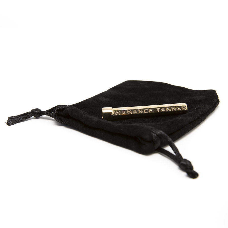 Wanaree Tanner Bronze Die Cut Tool Handle with velvet pouch.