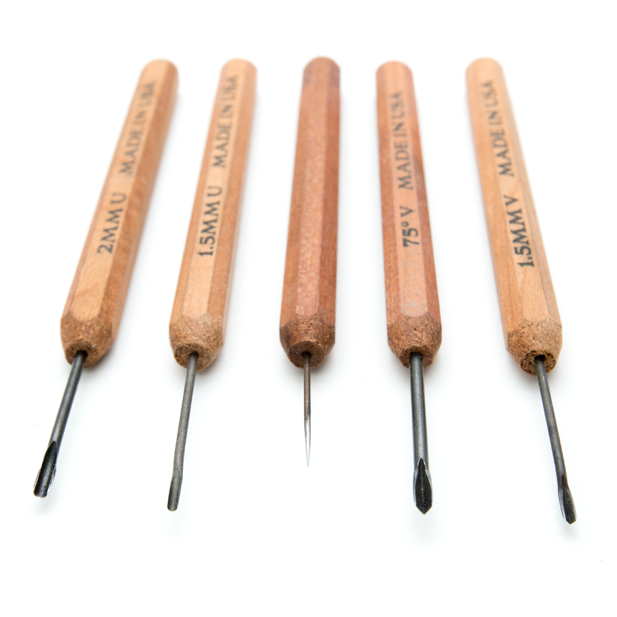 Dockyard Micro Carving Tools - Complete Metal Clay Set With Tool Holder