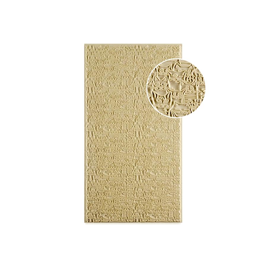 Easy Release Texture Tile - Feline Friends