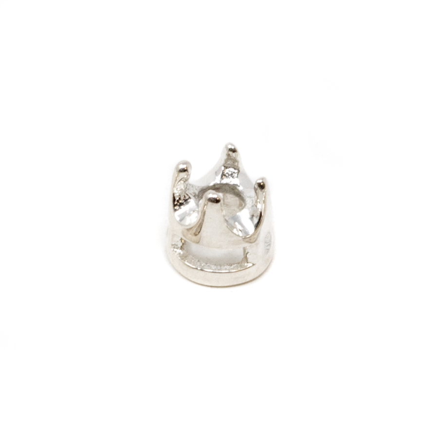 Sterling Silver Crown 4-Prong Bezel - 2mm