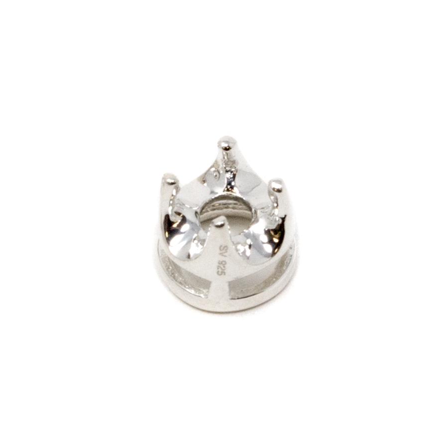 Sterling Silver Crown 4-Prong Bezel - 3mm
