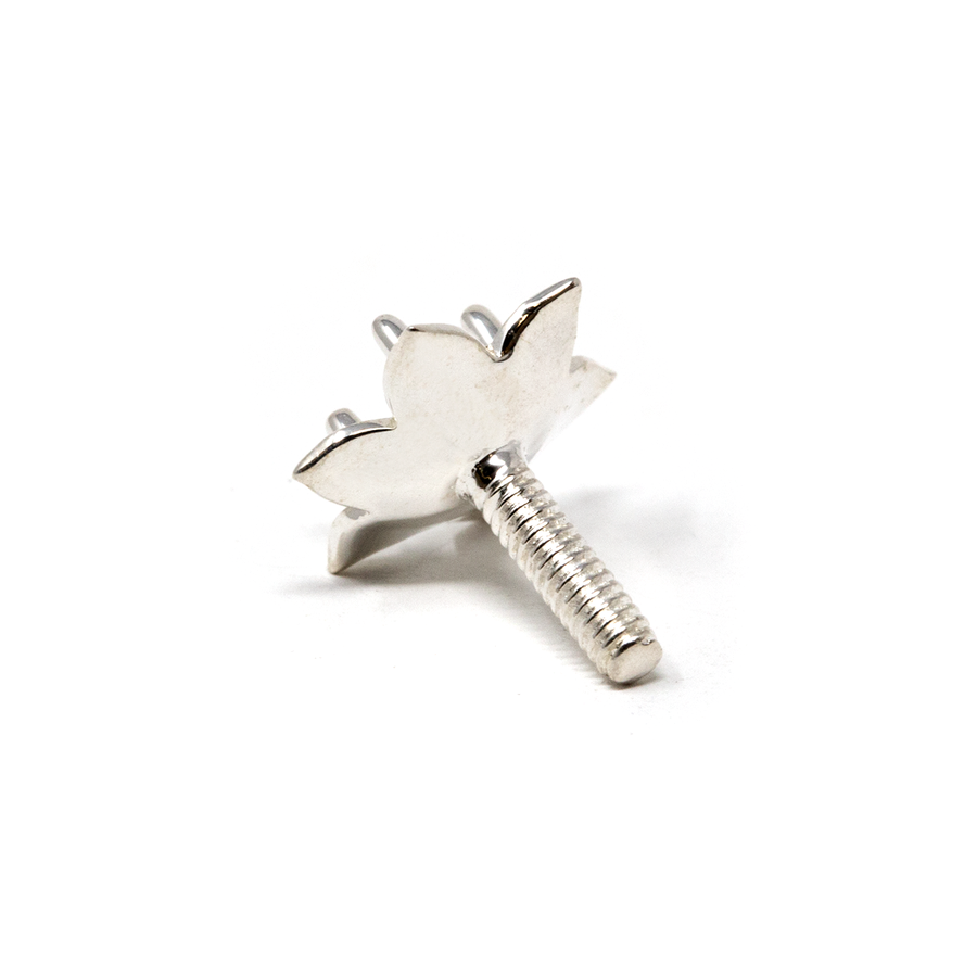 Sterling Silver Flower Prong - LILY - 3mm