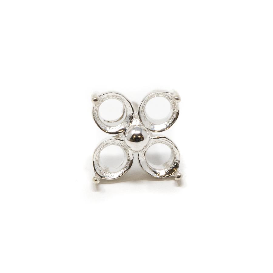 Sterling Silver Flower Prong - CLOVER - 3mm