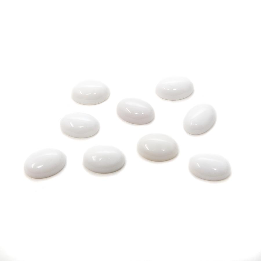 Oval Cabochon - White Onyx - 10x14mm