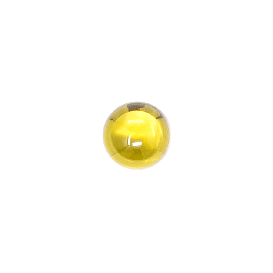 Round Cabochon - CZ Yellow - 8mm (Non-fireable)