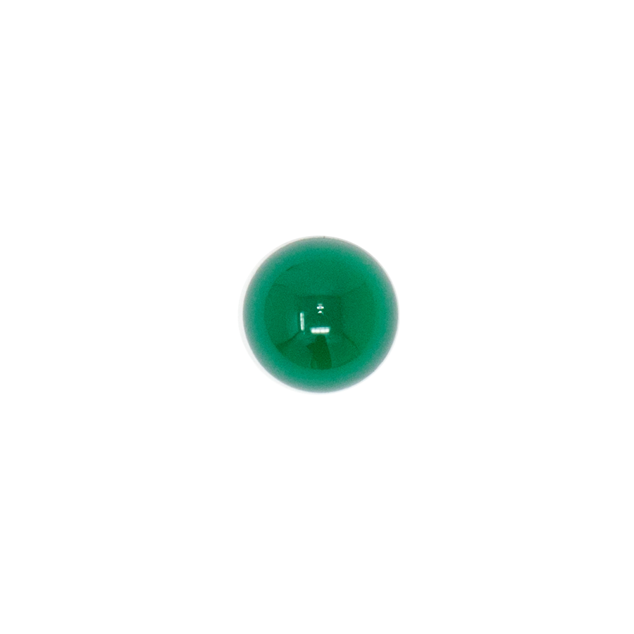 Round Cabochon - Green Agate - 8mm