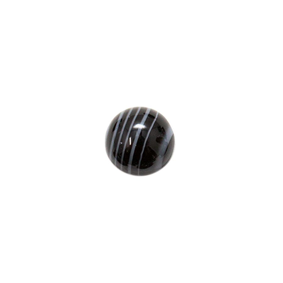 Round Cabochon - Black & White Onyx - 10mm