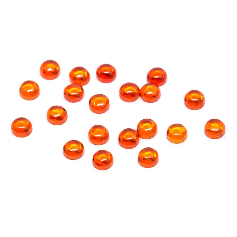 Round Cabochon - CZ Orange - 3mm (Non-fireable)
