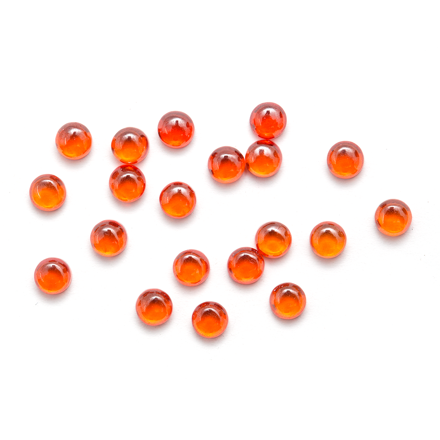 Round Cabochon - CZ Orange - 3mm (Non-fireable)
