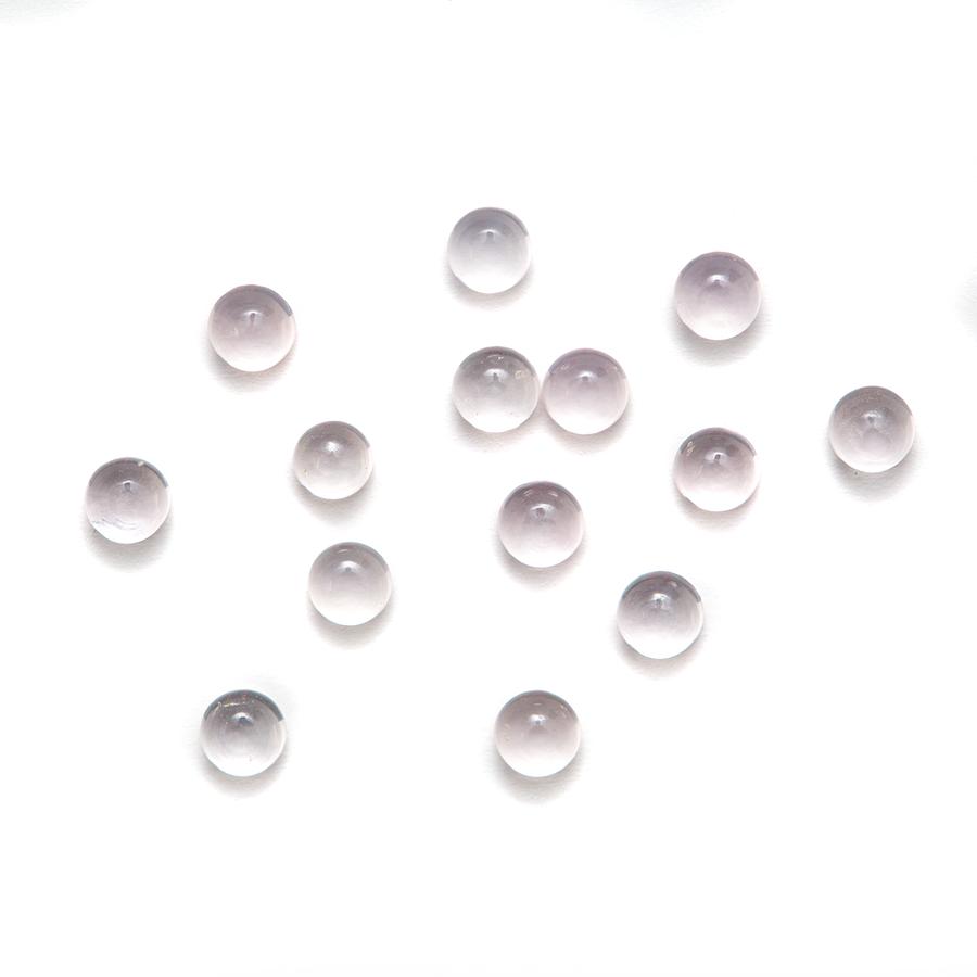 Round Cabochon - Rose Quartz AAA - 3mm