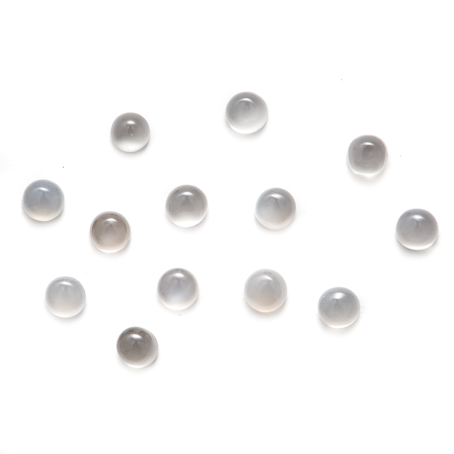 Round Cabochon - Moonstone Grey - 3mm