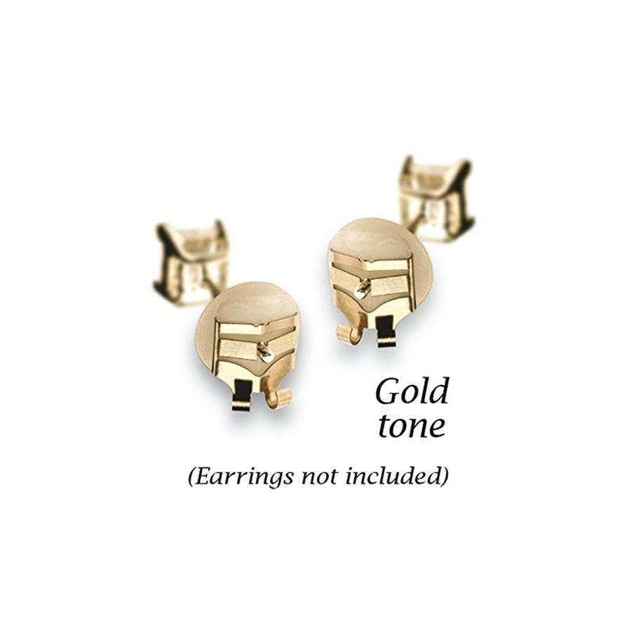 Lox Earring Backs - Gold Tone - 2 Pairs
