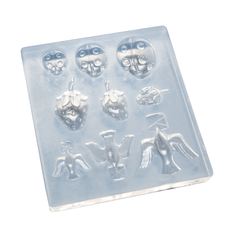 Silicone Mould - Bugs, Berries and Birds