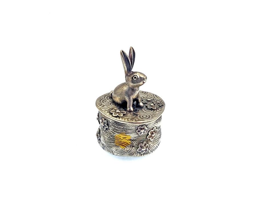 Flowerland Bunny Tiny Treasure Box by Joy Funnell