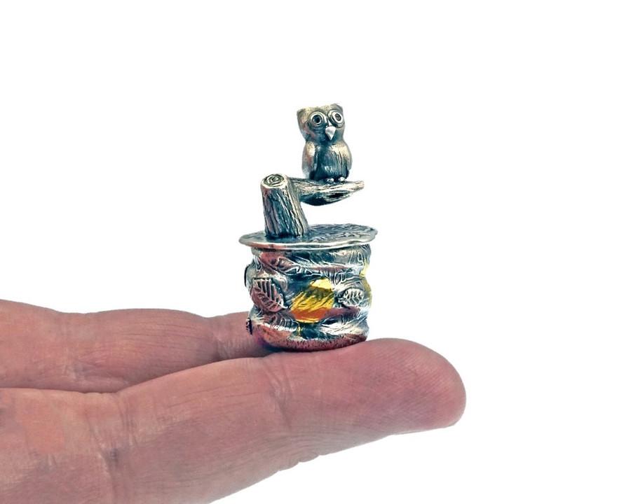 Woodland Owl Tiny Treasure Box by Joy Funnell