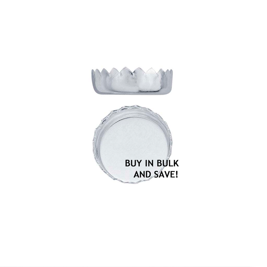 Bezel Cup Serrated Round - Fine Silver - 8mm