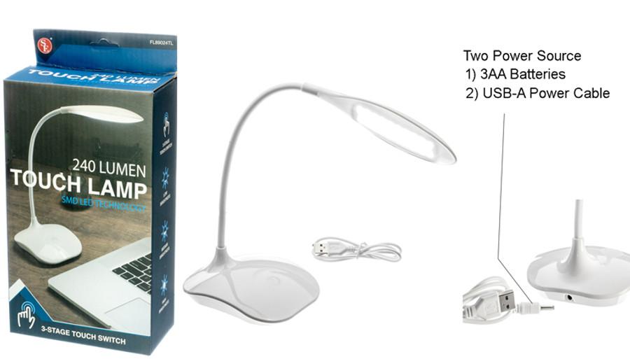 Flexible Neck Touch Lamp LED