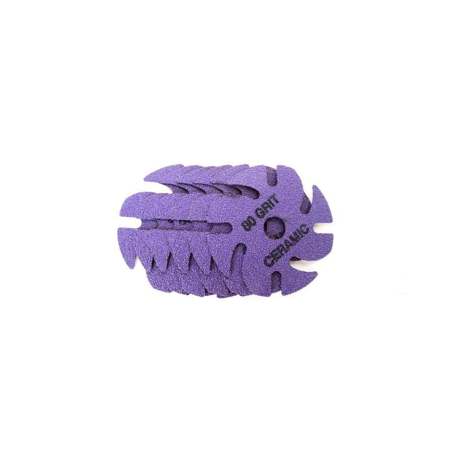 JoolTool Essentials: Ceramic 3M Ninja Abrasive 80 Grit Purple - 6pk