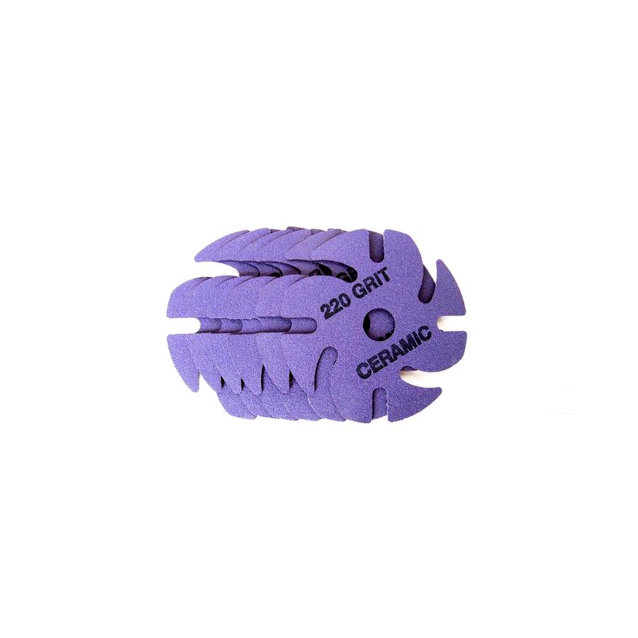JoolTool Essentials: Ceramic 3M Ninja Abrasive 220 Grit Purple - 6 pk