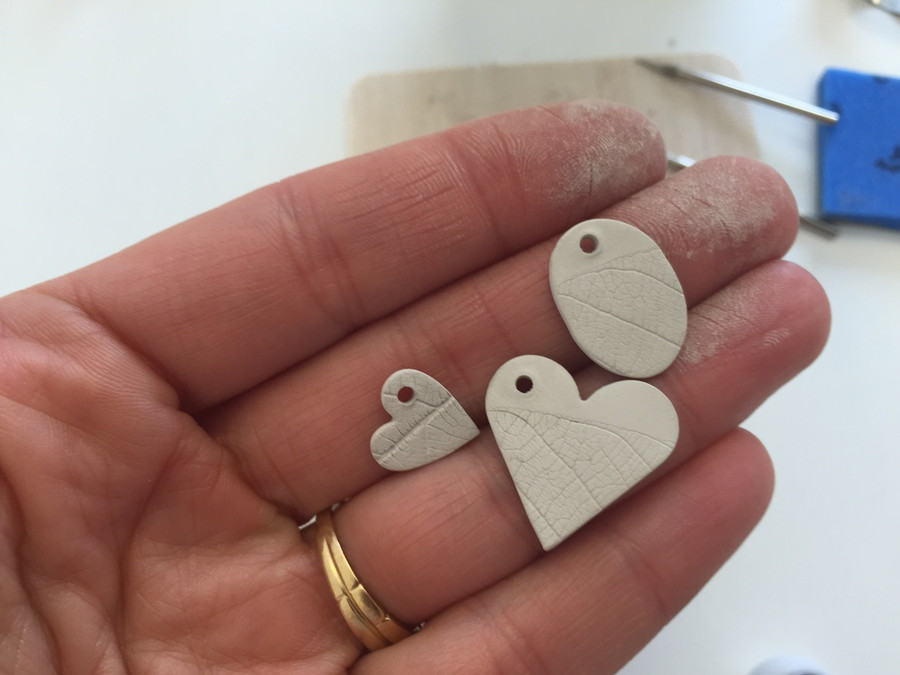 Silver before sintering in the kiln