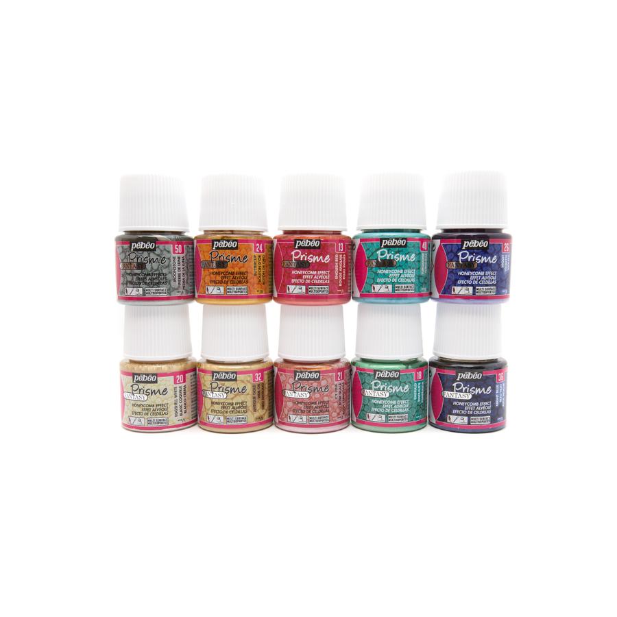 Pebeo Fantasy Paints - Prisme - 10 Colour Set LARGE