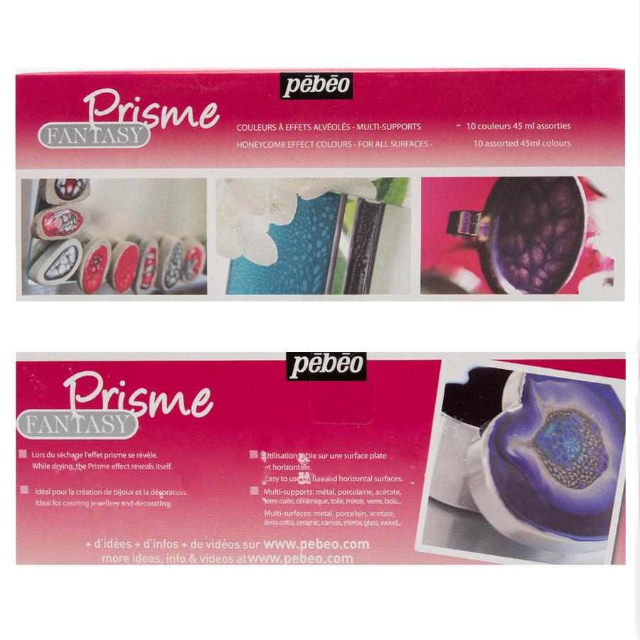 Pebeo Fantasy Paints - Prisme - Colour Set of 10 LARGE - 45ml