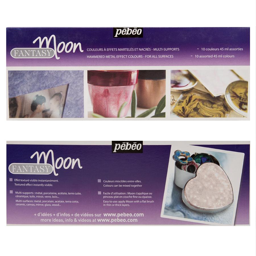 Pebeo Fantasy Paints - Moon - Colour Set of 10 LARGE - 45ml