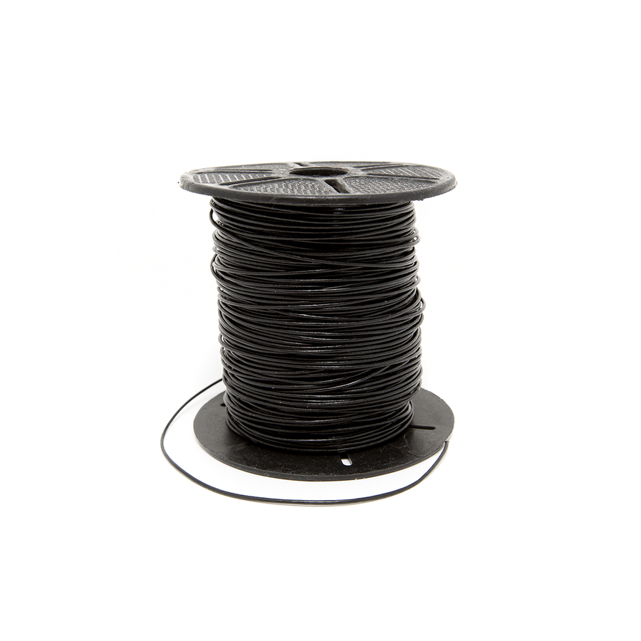 Leather Cord - Black (2mm thick) - 1m