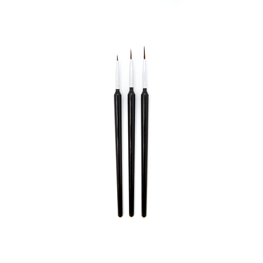 Long Bristle Synthetic Brushes - Set of 3
