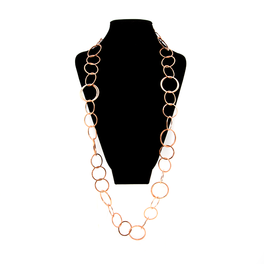 Brushed Copper Round Cable Chain - 91cm