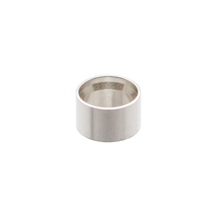 Silver Open Bezel Round - 3mm - 5pcs