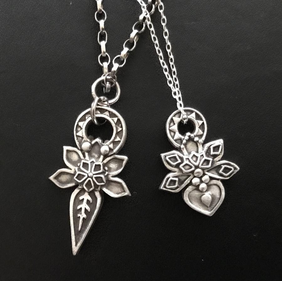 Wanaree Tanner Signature Tools Layered Ornamental Pendant with Jade Cameron