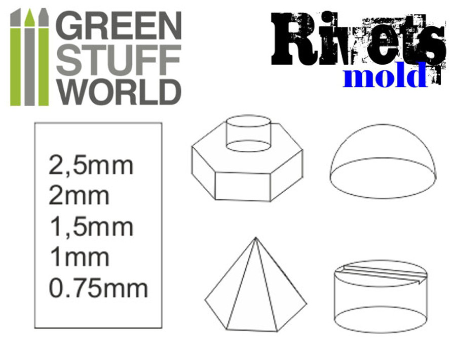 Silicone Moulds - Rivets & Accents - Set of 2