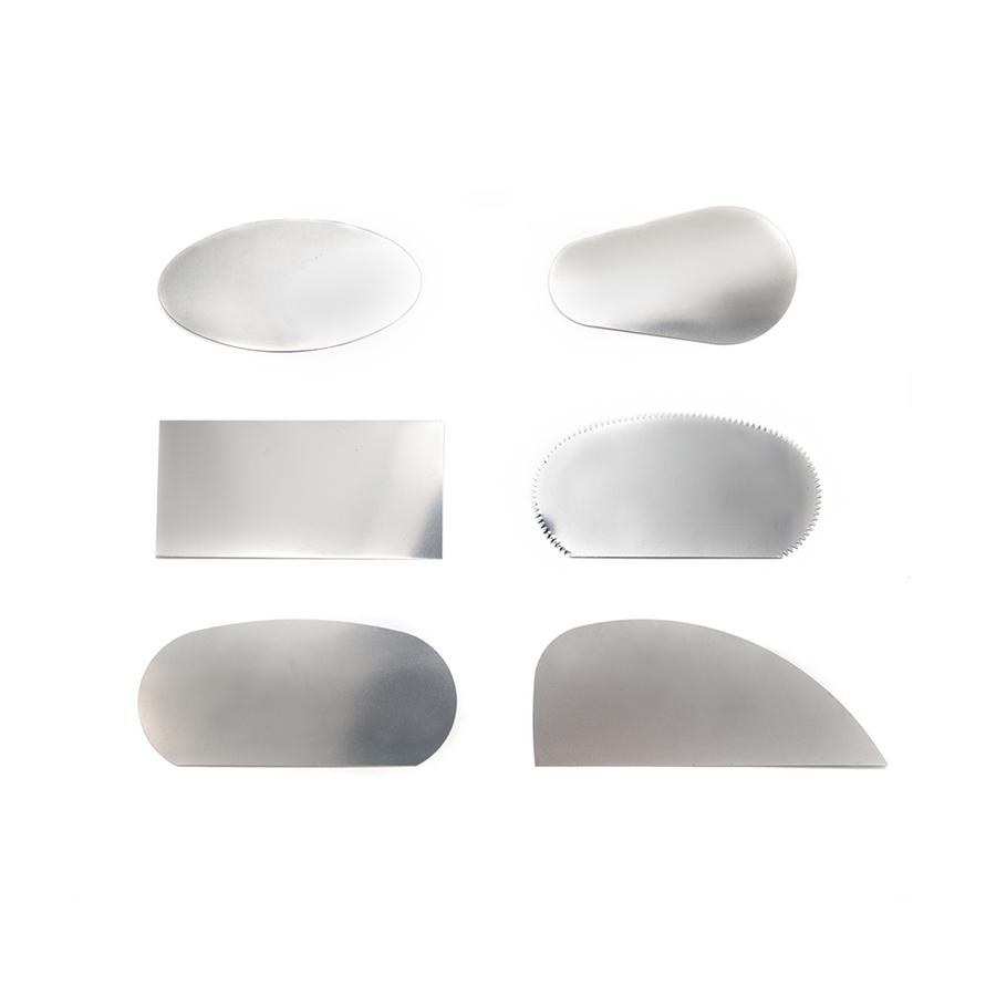 Flexible steel scraper