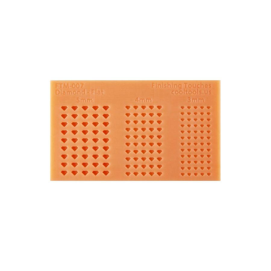 Silicone Mold - Flat Diamond Shapes
