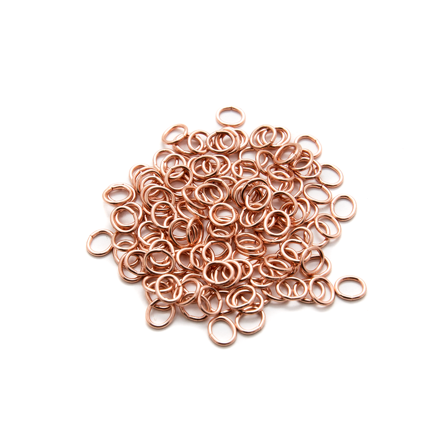 Oval Copper Jumprings 5x4mm
