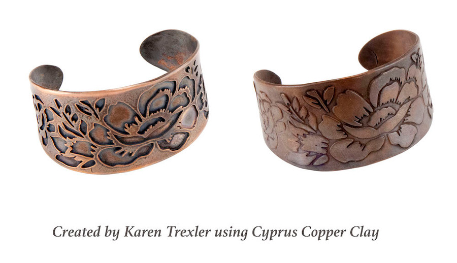Use to cut out or emboss! Example of template as a cuff.