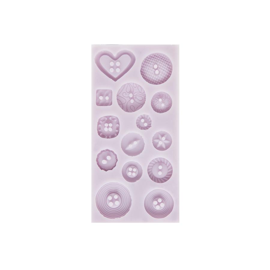 Cernit Silicone Mould Button Shapes