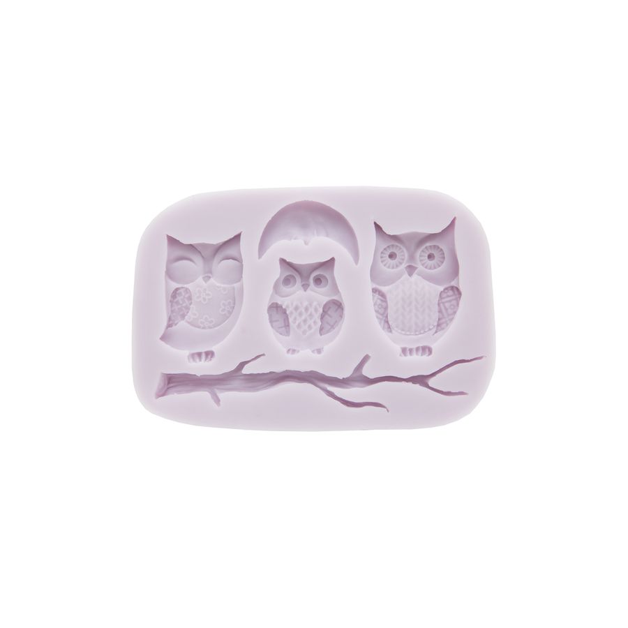 Cernit Silicone Mould Owl Shapes